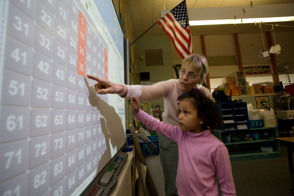 teacher smart board